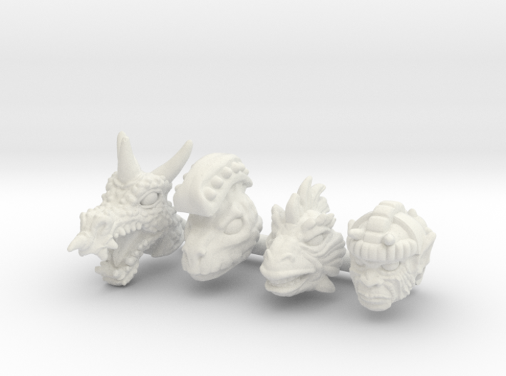 Galaxy Warrior Heads 4-Pack #3 - Multisize 3d printed