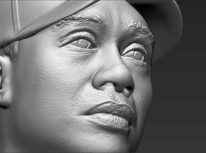 Tiger Woods bust 3d printed