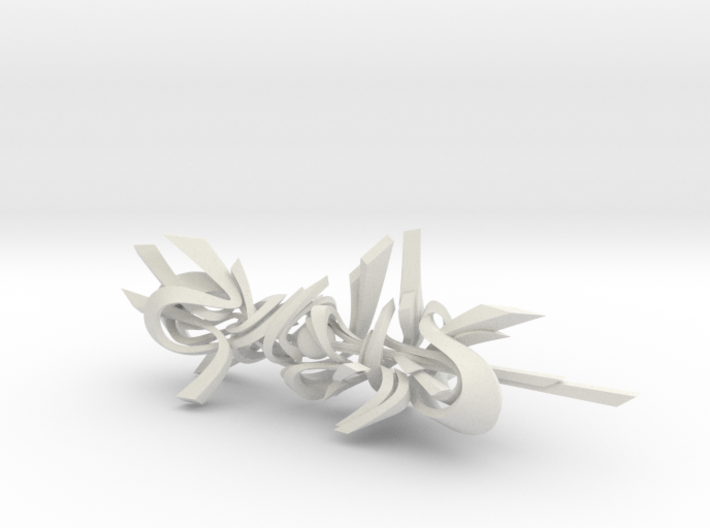 Genghis / 3D Style Writing / Sculptural Graffiti 3d printed