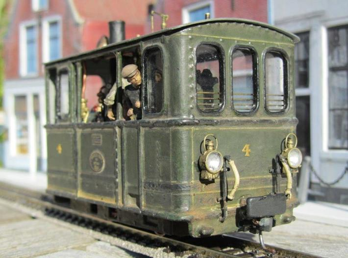 Gooische Stoomtram 18 'Leeghwater' in 1:45 3d printed Painted model with some modifications