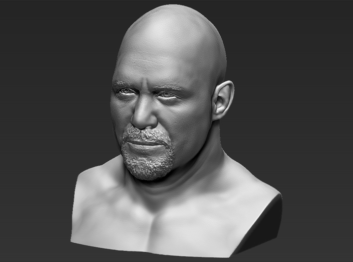 Stone Cold Steve Austin bust 3d printed
