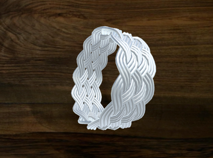 Turk's Head Knot Ring 6 Part X 13 Bight - Size 19. 3d printed