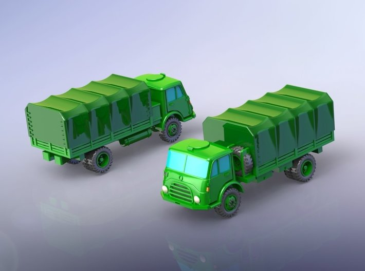 Steyr 680 4x4 Truck 1/120 TT 3d printed Set contains one model!