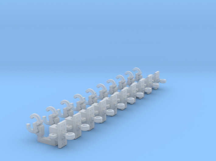 Pintle Hitch & Trailer Hitches 10 Pack 1-50 Scale 3d printed