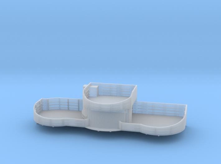 1/200 USN midship 4th deck starboard gun tub bofor 3d printed