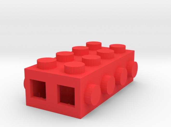 Custom LEGO-inspired brick 4x2 3d printed