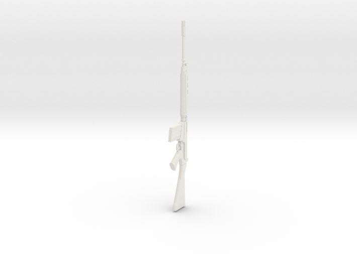 1:12 Miniature FN FAL Battle rifle 3d printed