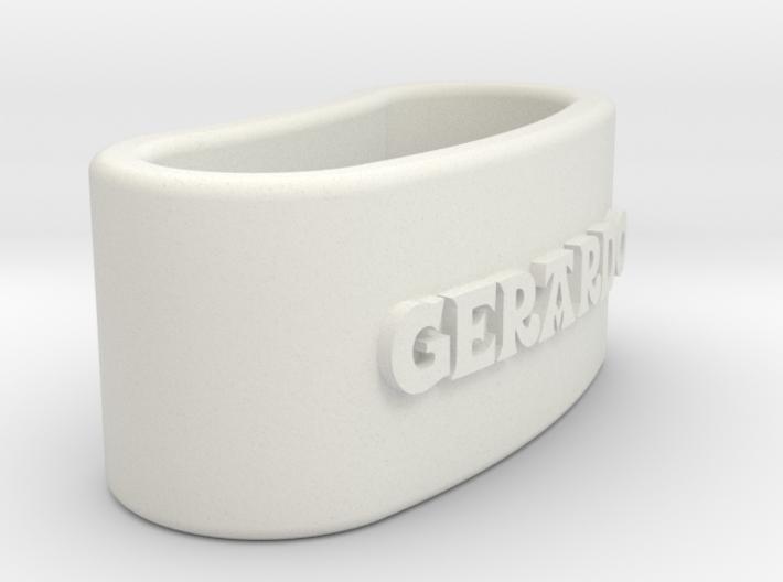 GERARDO napkin ring with daisy 3d printed
