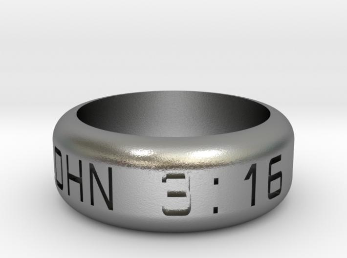 JOHN 3:16 Size 9 1/2 3d printed