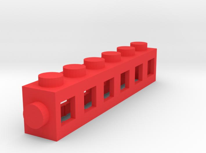 Custom LEGO-inspired brick 6x1 3d printed