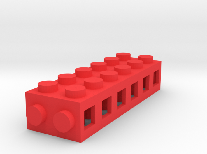 Custom brick 6x2 for LEGO 3d printed