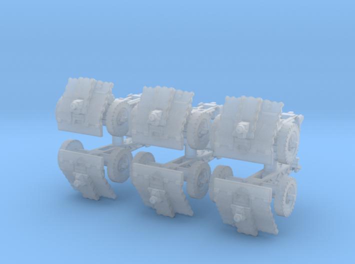 LeIg 18 support gun (6 pieces) 1/87 3d printed