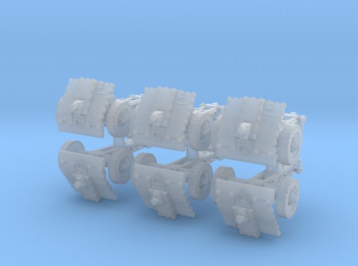 LeIg 18 support gun (6 pieces) 1/160 3d printed