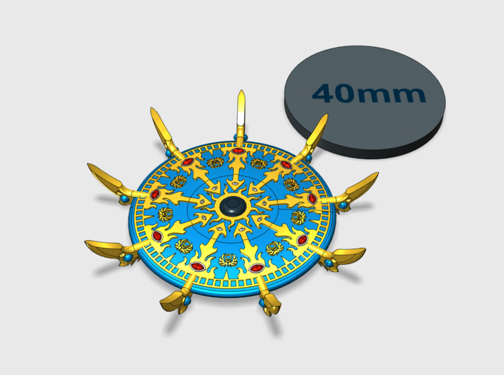 44mm Sorcerer's Disc - Scarab 3d printed Small = 1 Disc