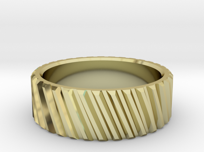 Helical Gear Ring 3d printed