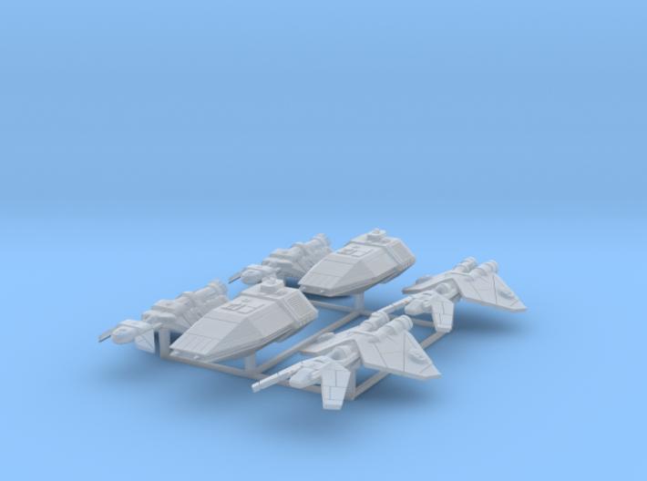 Patrol Ships 6 pack 3d printed