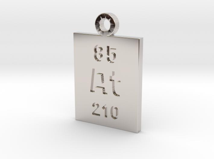 At Periodic Pendant 3d printed
