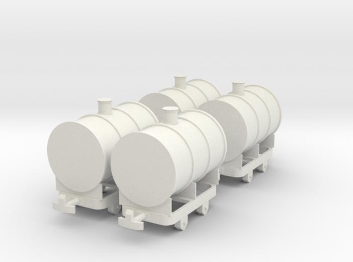 Tank Wagon OO9 / H0e 3d printed