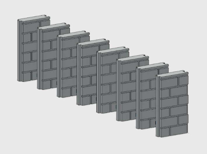 Block Wall - Jointed Filler Sections 3d printed Part # BWJ-033