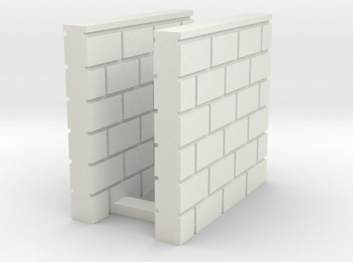 Block Wall - Butt Wall - S2 3d printed Part # BWJ-036
