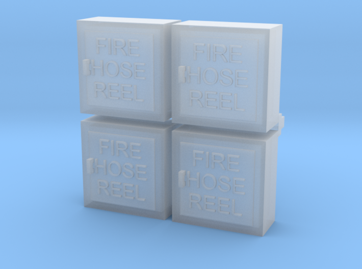 Fire Hose Cabinet 4 Pk 1-48 Scale 3d printed