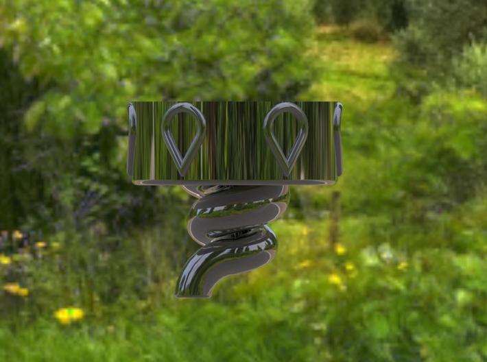 Bottle Cap VORTEX   To create Living Water 3d printed