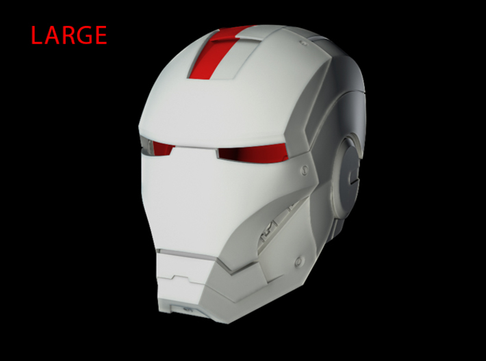 Iron Man Helmet - Head Right Side (Large) 1 of 4 3d printed CG Render (Head Right with Full Helmet)