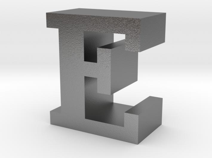 """E"" inch size NES style pixel art font block 3d printed"