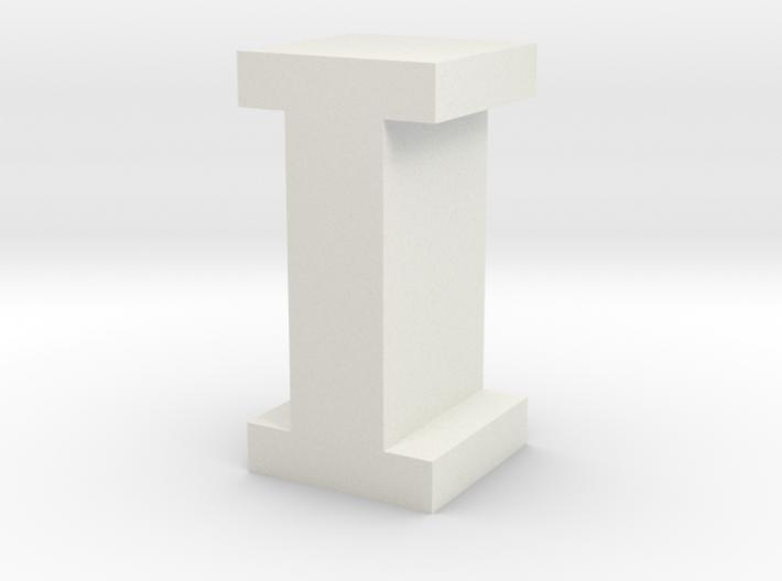 """I"" inch size NES style pixel art font block 3d printed ""I"" inch size NES style pixel art font block"