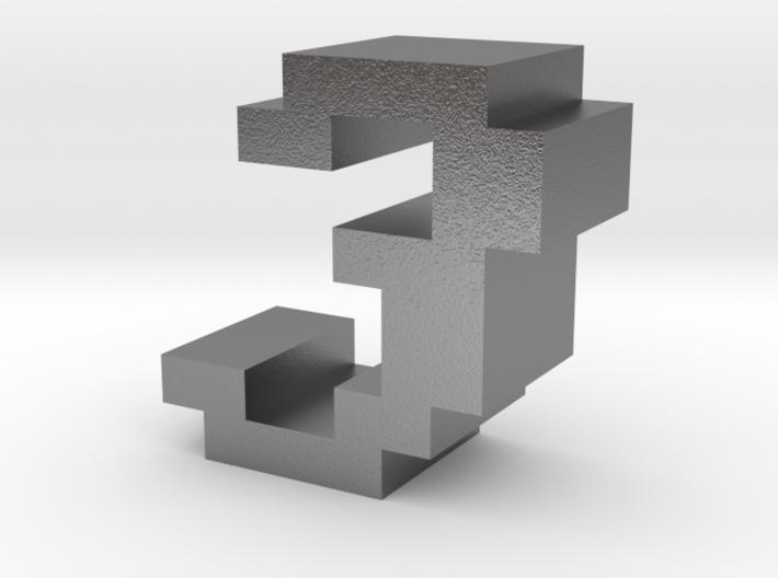 """3"" inch size NES style pixel art font block 3d printed"