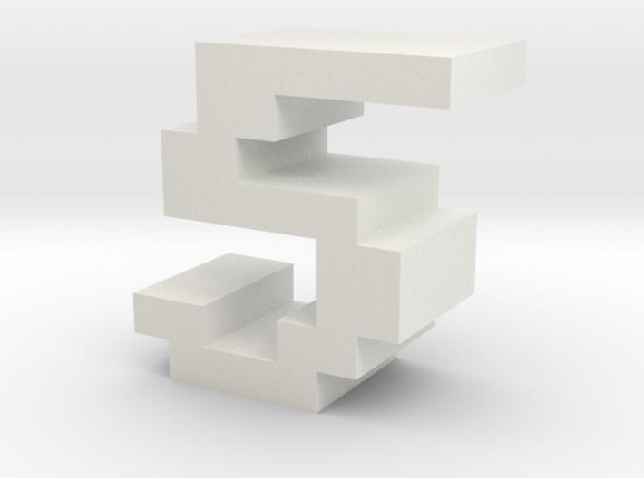 """5"" inch size NES style pixel art font block 3d printed"
