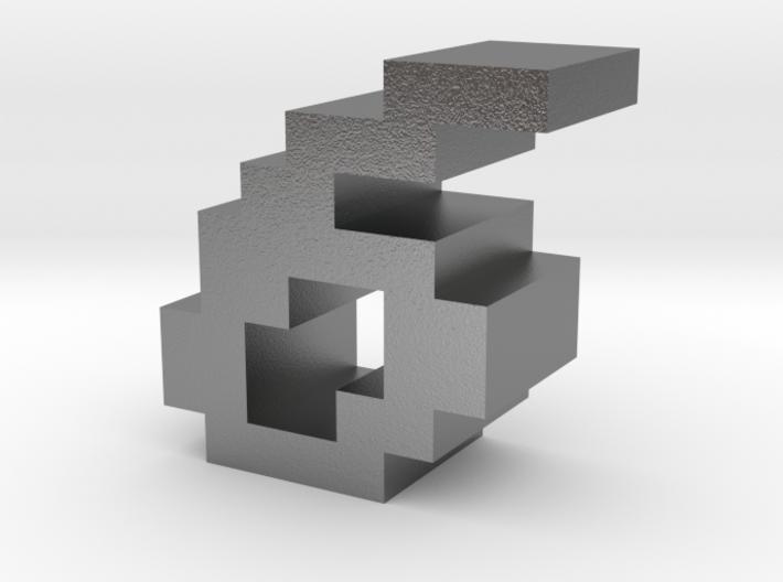 """6"" inch size NES style pixel art font block 3d printed"