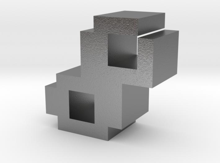 """8"" inch size NES style pixel art font block 3d printed"