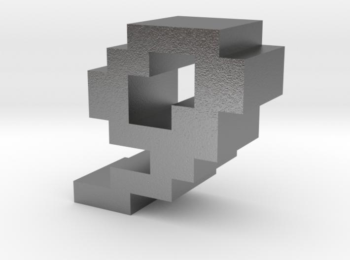 """9"" inch size NES style pixel art font block 3d printed"