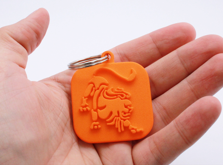 Keychain zodiac Lion (single color) 3d printed