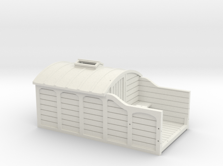00 Scale LNWR Brake Van (Early Version) 3d printed