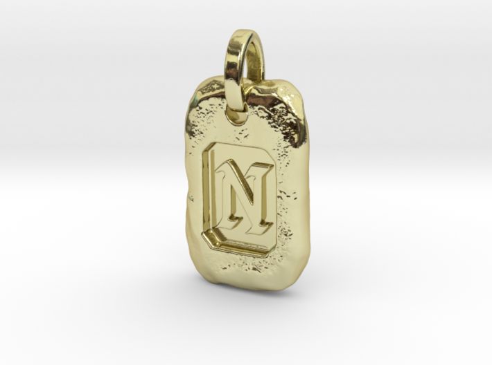 Old Gold Nugget Pendant N 3d printed