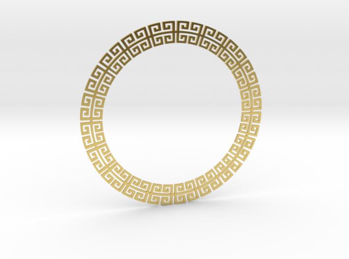 Circular Meander Pendant 3d printed