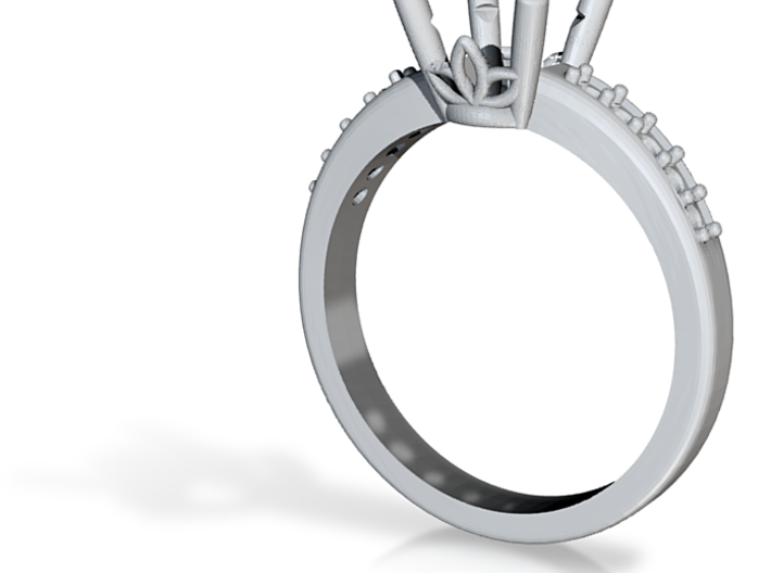 1ct Center Stone Ring 3d printed
