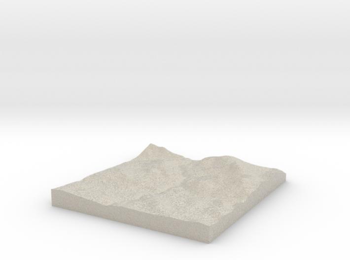 Model of Whitney Creek 3d printed