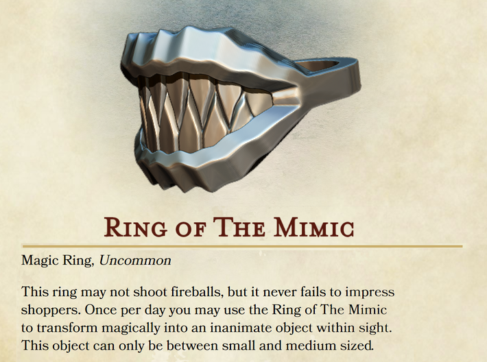 Ring of the Mimic 3d printed