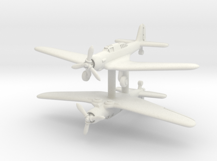 Northrop A-17A Nomad Pair 1/285 3d printed