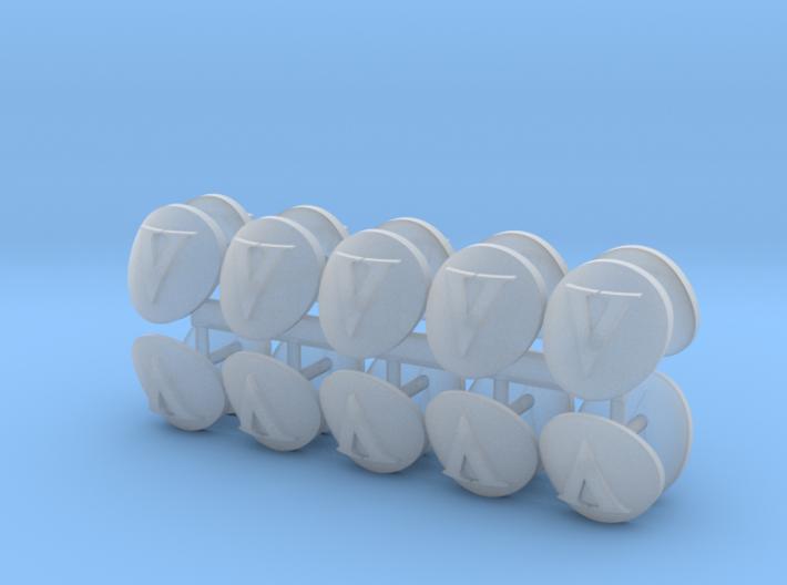 Roman V shoulder pads icons x20 3d printed