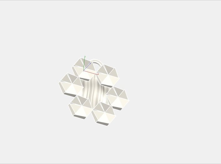 Magen David Pendant 3d printed virtual image
