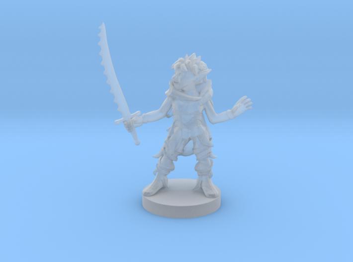 Goblin Female Warlock of Nature 3d printed