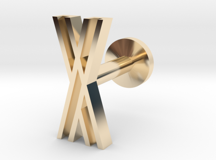 Letter X 3d printed