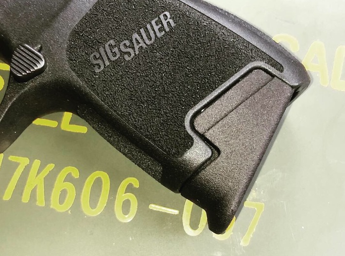 SIG P320 .45 Subcompact Pinky Extension 3d printed