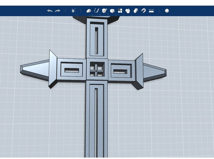 Medieval Cross on Stand Small 3d printed