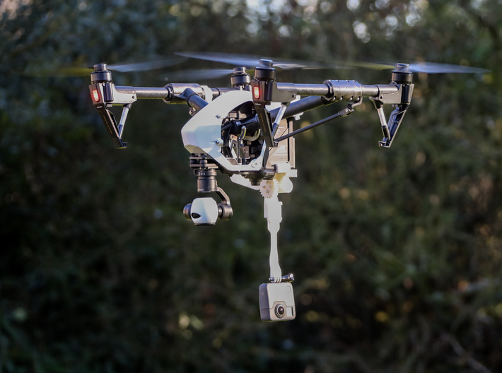 Retractable Camera Mount for Inspire 1 & 2  3d printed