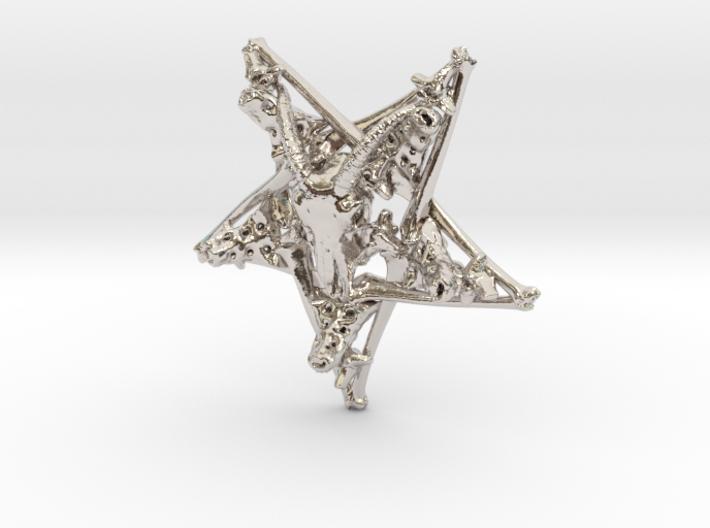 Inverted Pentagram Goat Bone Pendant 3d printed